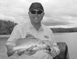 This typical Bundaberg jack was caught by Steve Wilson on a Tilsan Barra in pink herring colour.